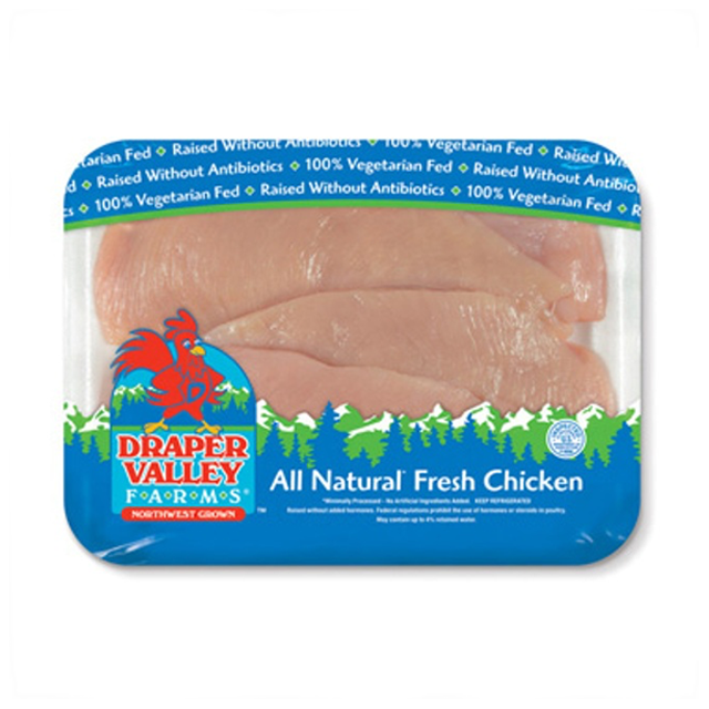 DRAPER VALLEY FARMS® THIN SLICED BONELESS SKINLESS CHICKEN BREASTS