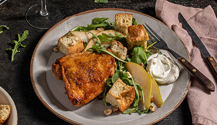 Chicken and Pear Panzanella Salad